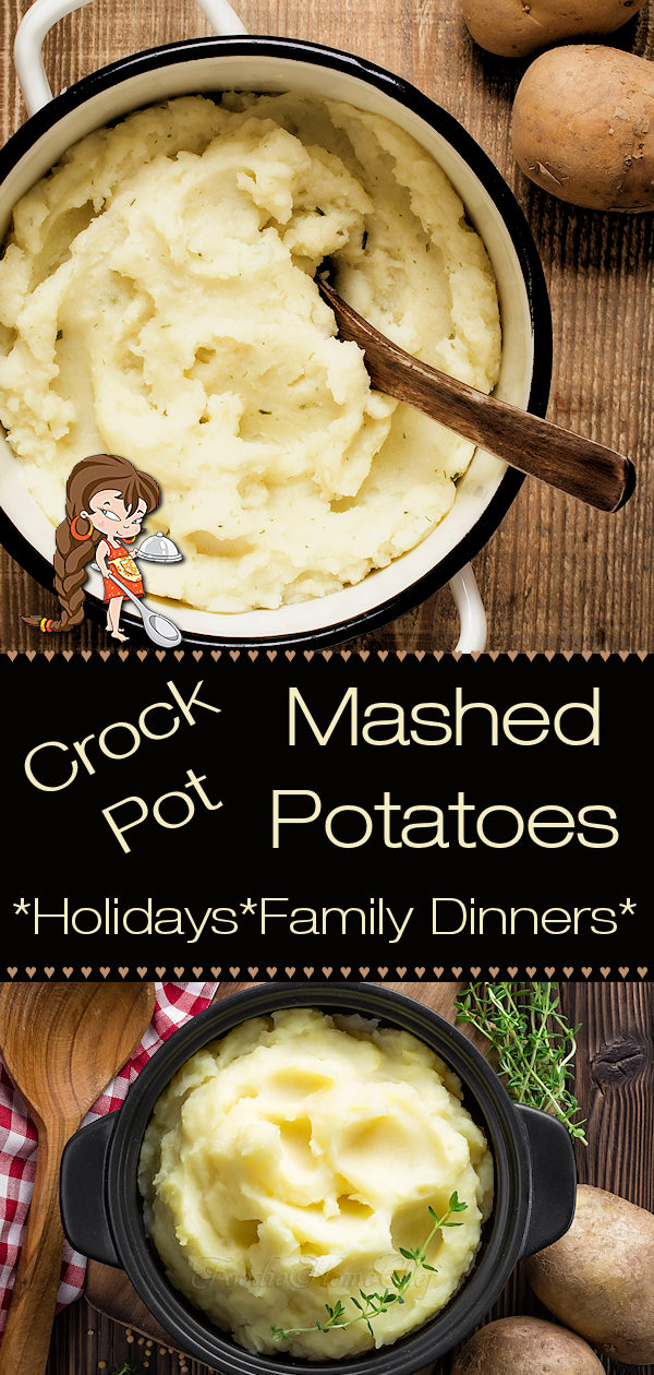 CLooking for an easy side dish for the holidays, a party or a family dinner? This Crock Pot Mashed Potatoes recipe by Foodie Home Chef is the tastiest, easiest way to cook Mashed Potatoes. During the holidays this method for cooking Mashed Potatoes saves a lot of space & time while you're cooking other things and the results are a real crowd pleaser! --- Potato Recipes | Crock Pot Potatoes | Side Dish Recipes | Thanksgiving Recipes | Christmas Recipes | #foodiehomechef @foodiehomechef