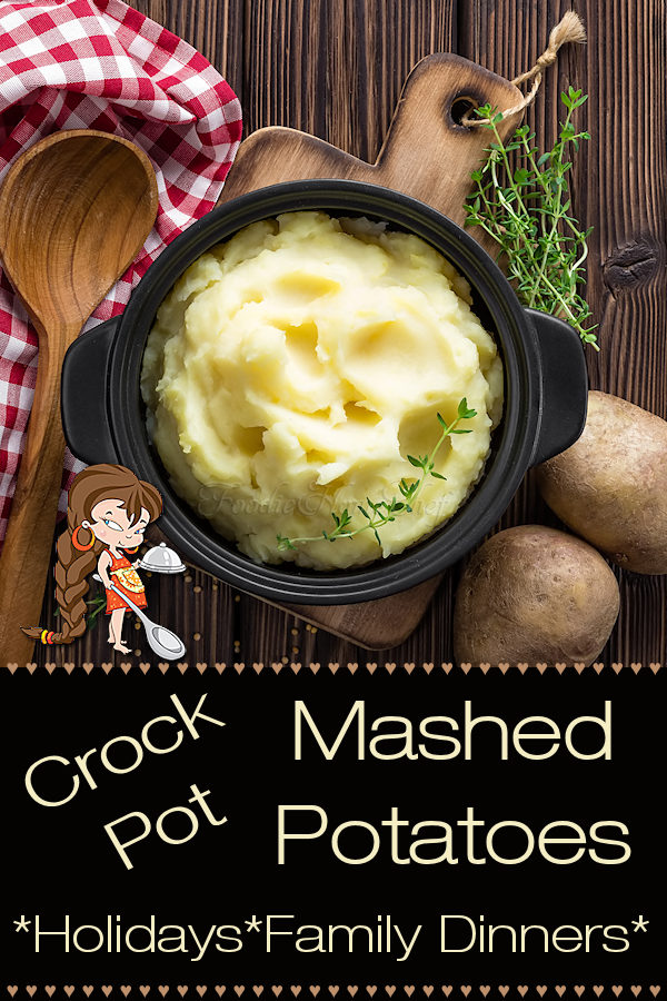 Looking for an easy side dish for the holidays, a party or a family dinner? This Crock Pot Mashed Potatoes recipe by Foodie Home Chef is the tastiest, easiest way to cook Mashed Potatoes. During the holidays this method for cooking Mashed Potatoes saves a lot of space & time while you're cooking other things and the results are a real crowd pleaser! --- Potato Recipes | Crock Pot Potatoes | Side Dish Recipes | Thanksgiving Recipes | Christmas Recipes | #foodiehomechef @foodiehomechef