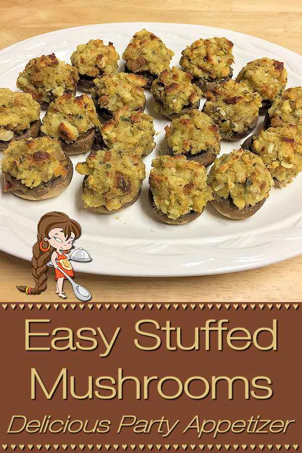 Looking for a fabulous holiday or party recipe? Easy Stuffed Mushrooms by Foodie Home Chef are just what you need at your party or family gathering! I love to make these Stuffed Mushrooms a few times during the holidays, as they're a tasty way to use up leftover poultry & stuffing. Stuffed Mushrooms | Appetizer Recipes | Party Recipes | Holiday Recipes | Leftover Recipes | Thanksgiving Appetizer | Christmas Appetizer | Christmas Recipes | New Years Recipe | #foodiehomechef @foodiehomechef