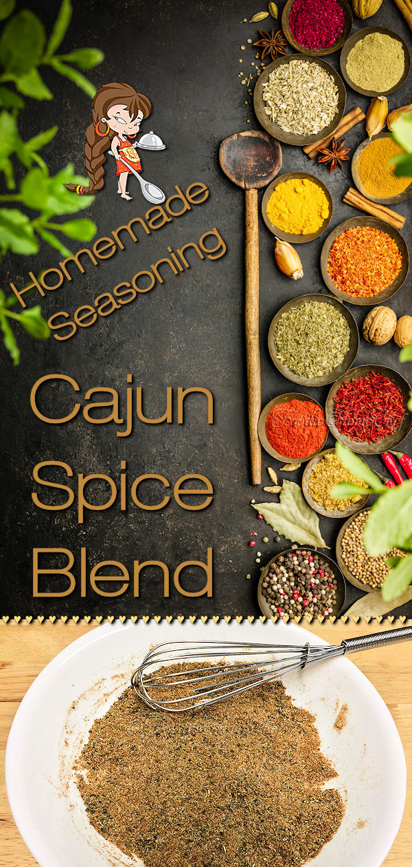 Homemade Cajun Seasoning by Foodie Home Chef will be one of the most versatile spice blends in your kitchen! It's uses are endless... use in soups, stews, sauces, dips & condiments. It's also great  on fish, meat, chicken & vegetables. Don't stop there... use as a great BBQ or blackening rub & mix it into ground beef for hamburgers. #HomemadeCajunSeasoning #CajunSeasoning #CajunSeasoningRecipe #CajunRecipes #SpiceBlends #Spices #SeasoningBlends #BBQRub #MeatRubs #foodiehomechef @foodiehomechef