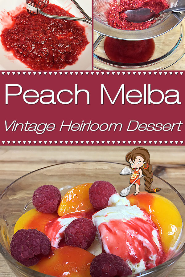 Peach Melba is a luscious dessert, created by a French chef, that's been wowing folks for well over 100 years. This easy version by Foodie Home Chef is bright & cheery, smooth & creamy and is sure to become one of your favorite desserts! Peach Melba is a fabulous dessert to serve during any holiday from Christmas to Easter to Mother's Day to Thanksgiving... your guests will rave about it! Peach Melba | Peach Melba Dessert | Dessert Recipes | Holiday Desserts | #foodiehomechef @foodiehomechef