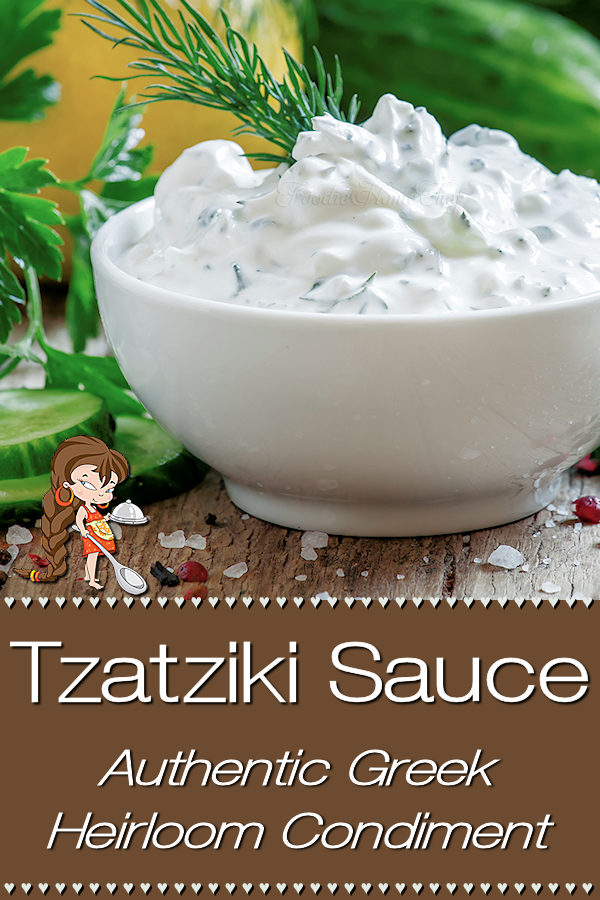 This recipe for Greek Tzatziki Sauce was generously gifted to me by a friend's Greek grandma. She told me that most Tzatziki recipes aren't traditional, as they have lemon and/or dill in them. Hers is the genuine recipe, the way it's served all over Greece. If you love garlic... you're going to adore this! Tzatziki | Tzatziki Sauce | Tzatziki Dip | Greek Tzatziki | Homemade Greek Tzatziki | Greek Food | Greek Recipes | Appetizers | Party Food | Dip Recipes | #foodiehomechef @foodiehomechef