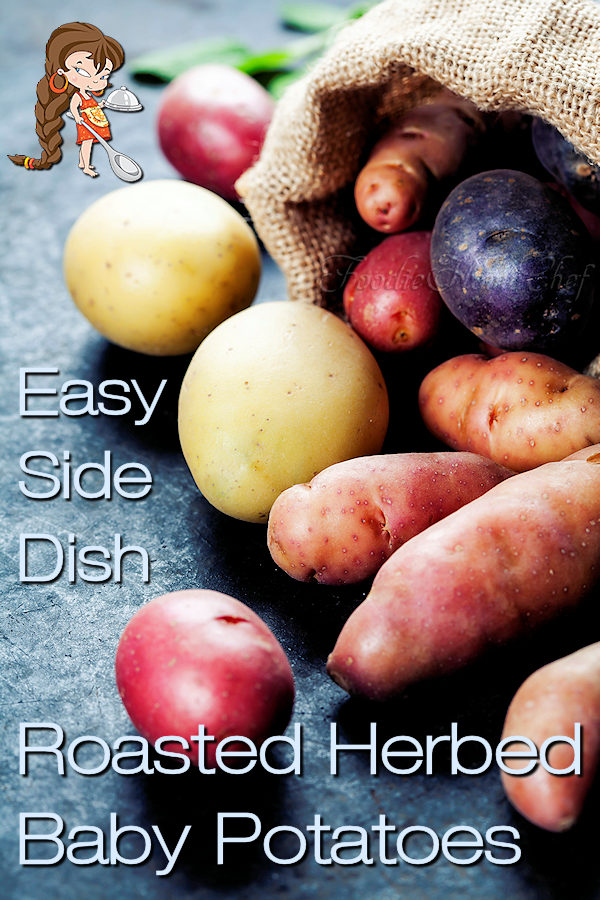 Roasted Herbed Baby Potatoes by Foodie Home Chef is one of the tastiest, yet easiest potato side dish you'll ever make. This versatile potato recipe can be served at breakfast, lunch or dinner & alongside any meat, seafood and/or vegetable. Perfect for a holiday side dish too! Roasted Baby Potatoes   Herbed Potatoes   Potato Recipes   Breakfast Recipes   Lunch Recipes   Dinner Recipes   Vegan Recipes   Keto Recipes   Gluten Free Recipes   Holiday Side Dish   #foodiehomechef @foodiehomechef