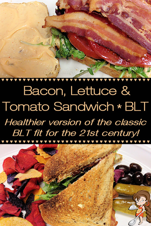 Who doesn't love a good BLT sandwich? Ok, vegans won't, but for the rest of us... Foodie Home Chef has taken this classic sandwich & updated it for the 21st Century by using healthier ingredients & using uncured bacon from humanely raised pigs. And if you want to kick it up a notch, this includes a quick recipe for Sriracha mayonnaise! BLT Sandwich | Bacon Lettuce Tomato Sandwich | Sandwich Recipes | Healthy Sandwich Recipes | Sriracha Mayo | Sriracha Mayonnaise | #foodiehomechef @foodiehomechef