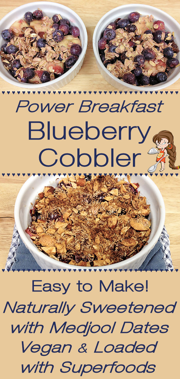 You & your family are going to adore these naturally sweet, warm, comforting individual Power Breakfast Blueberry Cobblers by Foodie Home Chef. They're so delicious, are packed full of superfoods, are easy to make & will get everyone's day off to a great start! Power Breakfast | Blueberry Cobbler | Breakfast  Cobbler | Blueberry Recipes | Cobbler Recipes | Breakfast Recipes | Easy Breakfast Recipes | Comfort Food | Vegan Recipes | Vegetarian Recipes | #foodiehomechef @foodiehomechef