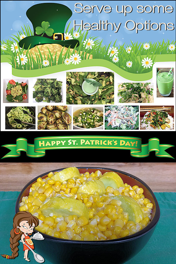 People often associate St. Patrick's Day with Beer & Sweet baked goods & Candy. This year why not up your game & celebrate with these healthy, delicious recipes by Foodie Home Chef instead. Especially take note of the Pot of Gold, Get Up & Go Green Smoothie & the Green Greens Salad with Basil Ranch Dressing recipes. St. Patrick's Day | St. Patrick's Day Recipes | St. Patrick's Day Healthy Recipes | Green Smoothie | Healthy Party Food | Healthy Party Recipes | #foodiehomechef @foodiehomechef
